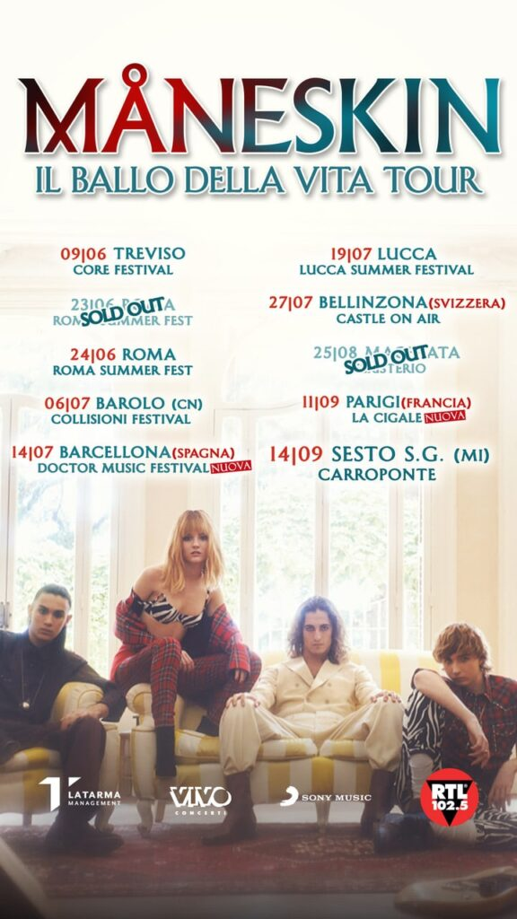 NUOVO TOUR ITALIANO ED EUROPEO
