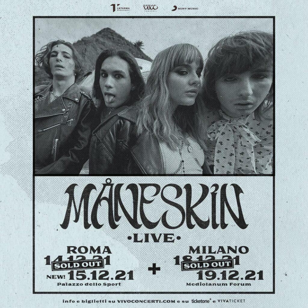 Måneskin: 4 sold out!