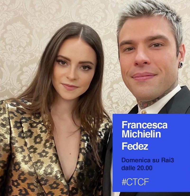 """Francesca Michielin e Fedez a """"Che Tempo Che Fa"""""""